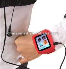 2012 multi-fucntion colorful watch strap 4GB Gift MP4 wrist Watch AD666 with E-book and FM