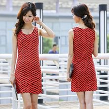 Stock clothing inventory clearance 2015 summer new Korean fashion Slim sleeveless vest skirt dress cloth factory outlets