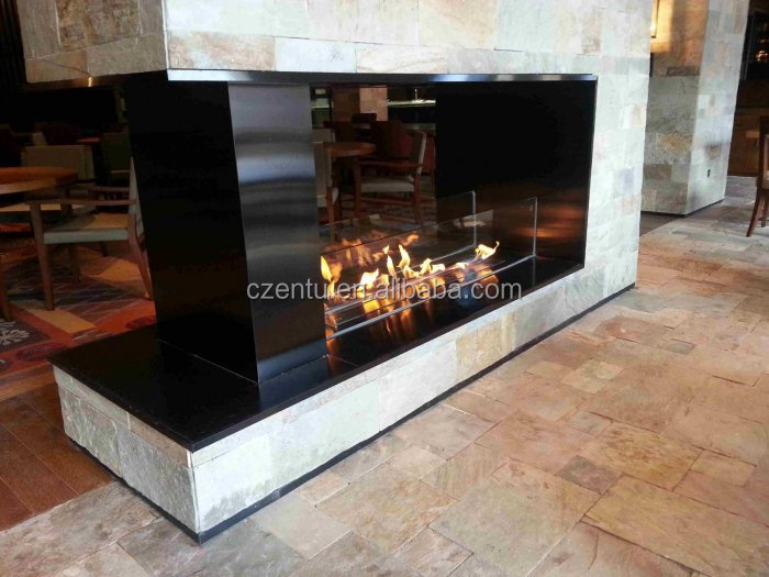 Smokeless eco friendly fireplace with co2 monitor and alarm for Eco friendly fireplace