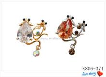 Hot sales rhinestone brooch,crystal brooch,bulk brooch
