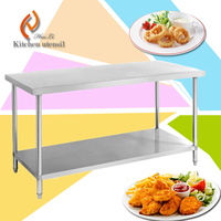 Separated assembled portable heavy duty commercial stainless steel kitchen work table bench in hotel restaurent for kitchen equi