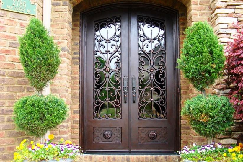 Acier porte de grille conception entr e principale fer grill porte fen tre co - Cout porte coulissante ...