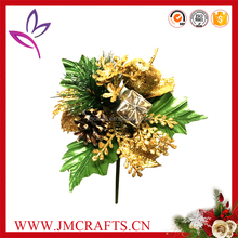 Decorative artificial Xmas pick with different ornaments