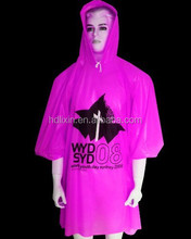 Custom Waterproof PE Rain Poncho With Sleeves
