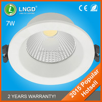 2015 Hotsell Ivory Housing Color COB 7W Embedded Downlight