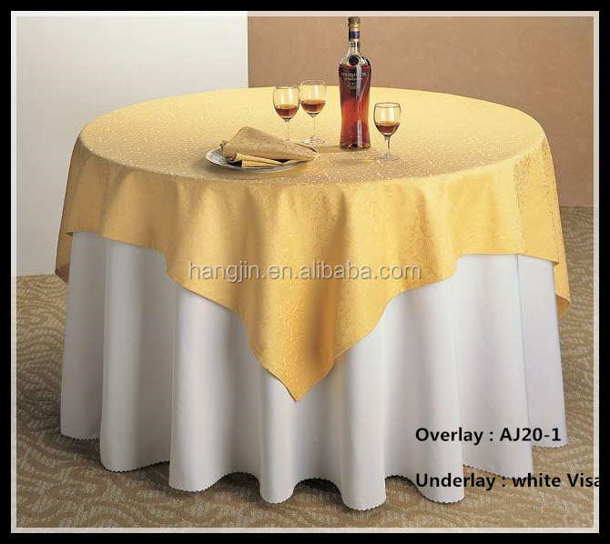 Square Jacquard Overlay Tablecloth And Cheaper Polyester Visa