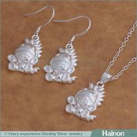 fashion design factory 925 silver catalog jewelry set factory