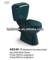 Hot selling Modren 2 piece toilet Color toilet brown