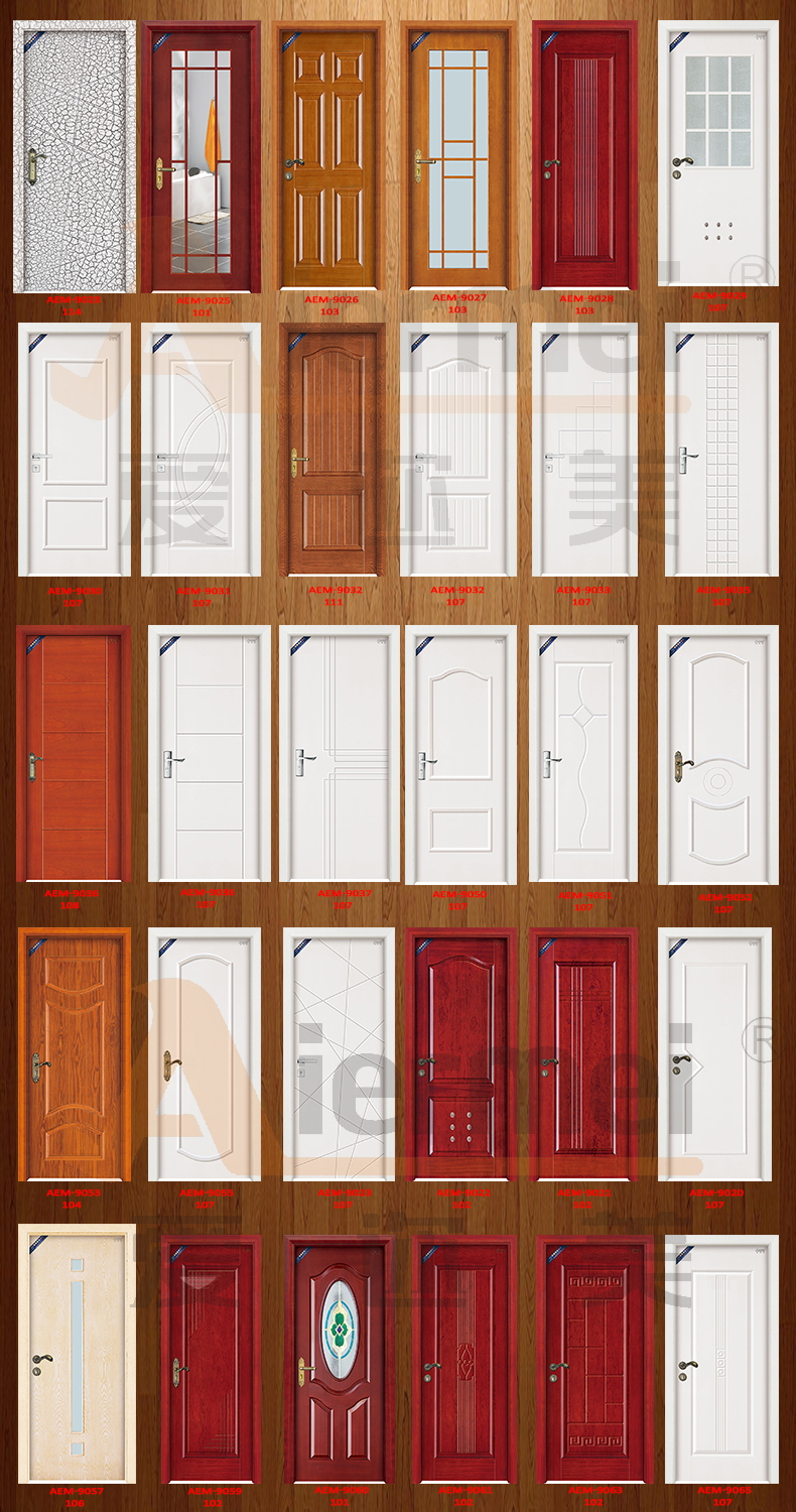 Antique indian main door design mdf veneer wooden room door Wooden main door designs in india