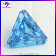 China hot sell gemstone lab created triangle cut aquamarine cubic zirconia