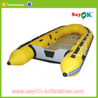 high quality aluminium floor mini inflatable boat with sail