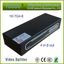 ((YK-TG4-8) 4 In 8 Out BNC Connector Rack Mounted Video Distributor