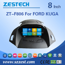 Wholesale car fm radios audio multimidea player red power car dvd For Ford KUGA support Phone 3G DVR SWC BT