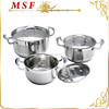 6pcs hot pot casserole with stainless steel lids and special design zinc-alloy handles
