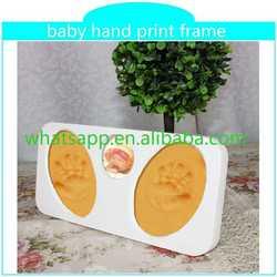 2015 new baby hand print frame keepsake how to make clay handprints