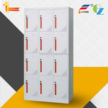 Factory price knock down 12 doors metal office furniture 3 door steel storage strong locker
