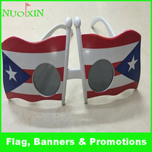 wholesale custom personlized fashion plastic american flag sunglaesses/promotional football fans flag sunglasses