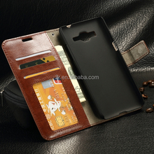 For grand prime Flip Wallet Photo Frame PU Leather Case For Samsung galaxy grand prime G530 With Stand Card Holder Phone Bag