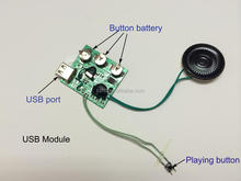 60 second USB Port Download Musical Chip With Led Light From Chinese Manufacturer