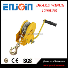 CE SGS approved manufacturing 1200lbs powder coated reversible brake pulling winch