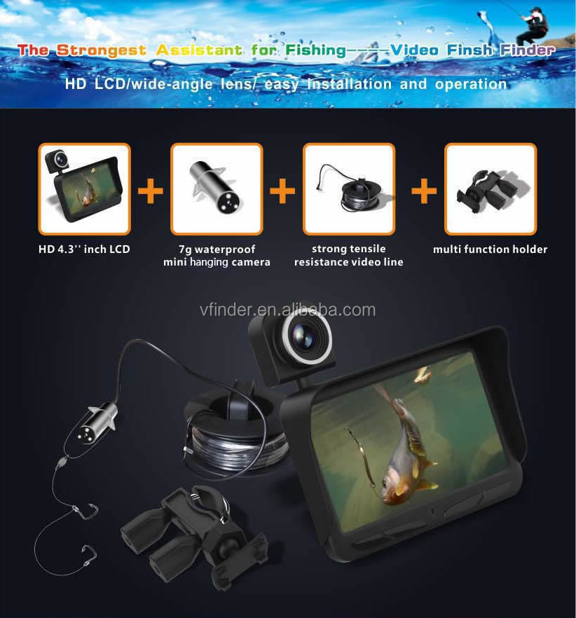 Hot sale underwater video camera for K9 fishing line