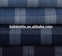 100% Cotton Yarn Dyed Plain Check Fabric For Garments