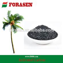 Ac-235 de sorción de alta propiedades granular de cáscara de coco carbón activado