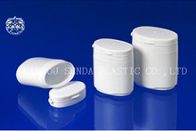 pill bottle seal custom made oval shape HDPE plastic chocolate candy bottle/jar, HDPE chewing gum bottle for sale, new design