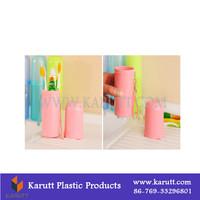 Plastic Custom toothbrush toothpaste travel case