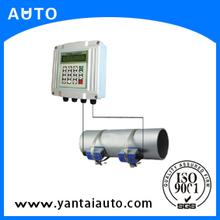 fijo medidor de flujo ultrasónico de la abrazadera sobre el agua del medidor de caudal con precio razonable