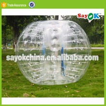 outdoor adult body bubble bumper ball zorbing on water