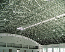 Light sports hall stadium steel space frame building