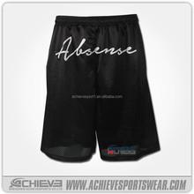 black white customised basketball shorts