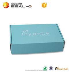Corrugated Packaging Box ,Printed Flat Shipping Box ,Paper Packaging Box For Clothing