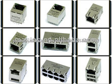 10/100/1000 Base-Tx INTERGRATED magnético del transformador RJ45 Conector con LED y Multi puerto USB