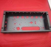 custom black powder coating aluminum case aluminum chassis
