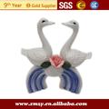 pares de cisne decoración de la boda