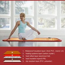 FW518 Winter Heated Health Care Non Slip Yoga Mat / New-style Carbon Crystal Non Slip Yoga Mat