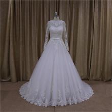 Beautiful pleats champagne 2014-2015 new model wedding dresses