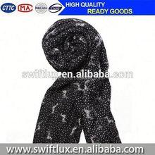lady new custom animal printed soft cotton circle loops scarf azo free