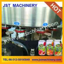 Linear type canned juice drink filling machine
