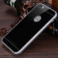 Luxury Metal Bumper Case Gorilla Tempered Glass Back Cover For iphone 6/6s 4.7 inch