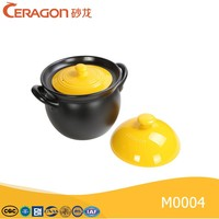 ceramic big cocotte with double Lids