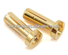 Low Profile 5mm Male Bullet Connectors 18mm,14mm,12mm (Gold or Silver plated)