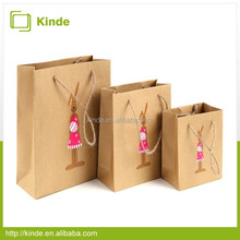 Wholesale print brown Kraft paper shopping bag