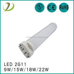 85-277VAC 9w 12w 15w 18w 22w led tube lights 2g11