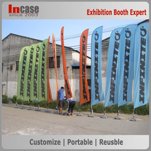 100% polyester fabric custom printing advertising feather flag banner