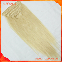 Very Cheap Wholesale Virgin Indian Remy Hair Unprocessed Indian Human Hair Safty Clip In Hair Extensions For Children