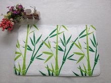 Printed bamboo floor mat