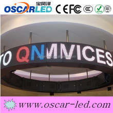 HD P6mm arc curve advertising video LED display Hot sale led video wall display advertising LED screen curve led display board